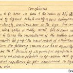 Auszug aus einem handschriftlichen Manuskript für einen wissenschaftlichen Originalbeitrag