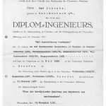 Diplom-Urkunde von Kurt Schwabe