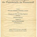 Deckblatt der Dissertationsschrift von Kurt Schwabe